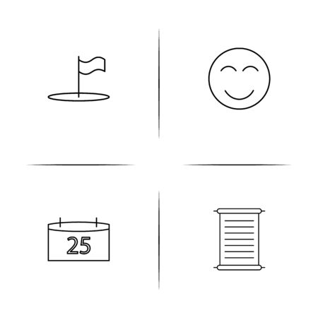 Lifestyle simple linear icons set. Outlined vector icons