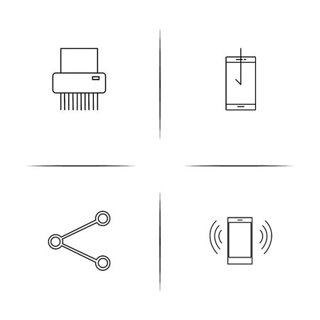 Network And Database simple linear icons set. Outlined vector icons.