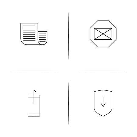 Internet Of Things simple linear icons set. Outlined vector icons