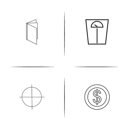 Banking, Finance And Money simple linear icons set. Outlined vector icons. Illusztráció