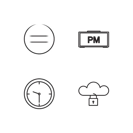 business simple outlined icons set Иллюстрация