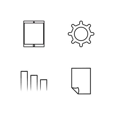 ensemble d & # 39; icônes simples décrites