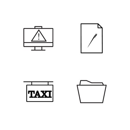 business simple outlined icons set Stock Illustratie