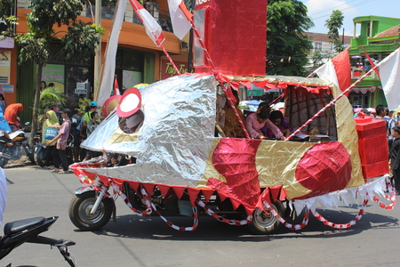 Indonesia Independence Day Carnival In Malang, East Java, Indonesia Editorial