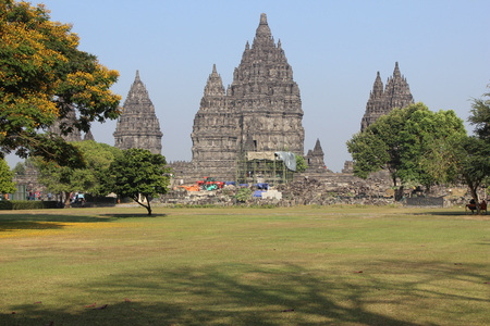 Prambanan Temple, Klaten , Central Java Stock Photo