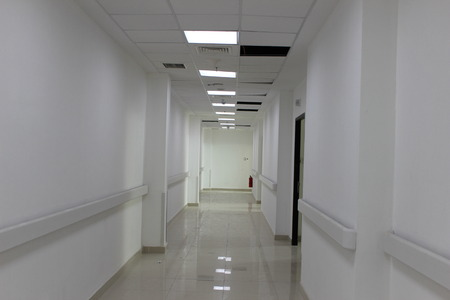 long corridor in ICU room Indonesia hospital