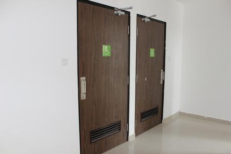 Disabled People Toilet Door Stock Photo