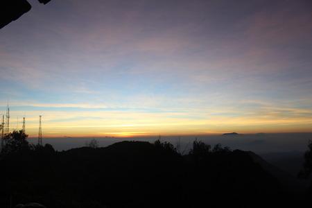 Beautiful Sunrise in Bromo Tengger Semeru Park