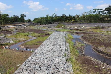 Semeru River And Dam Stock Photo