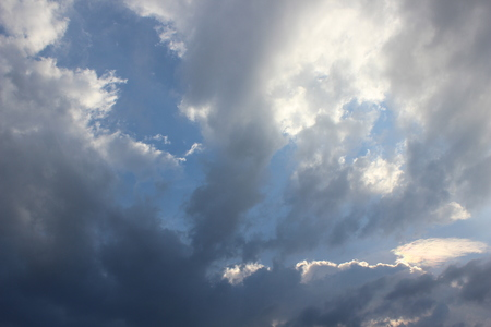 Panorama Sky and Cloud in Summertime  in Indonesia