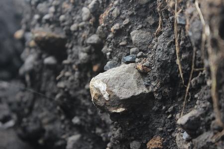 textura de fractura de la estructura del suelo