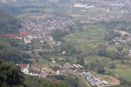 Batu City from Above, East Java, Indonesia Reklamní fotografie