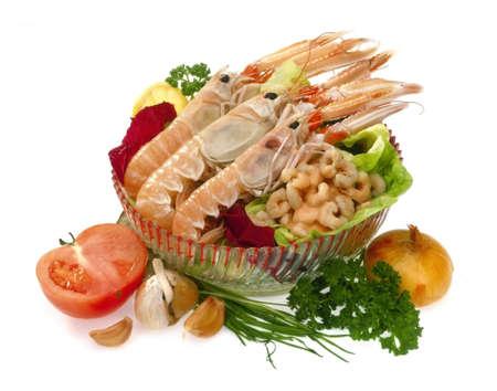 Raw mediterranean menu Stock Photo