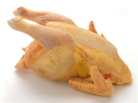 carcass meat: Raw chicken isolated on white background but without clipping path