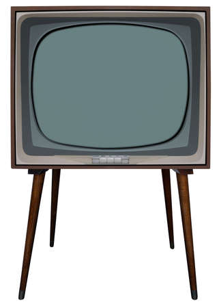 standalone: Old nostalgic TV with clipping path inside and outside