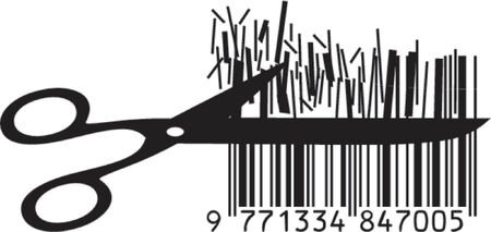 Vector illustration of cutting price