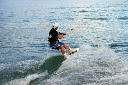 water skier: Wired surfer Stock Photo