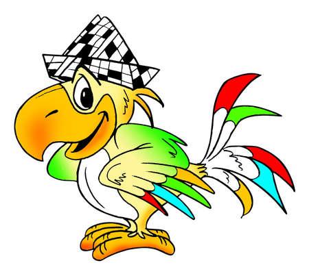 Lustiger komischer Papagei