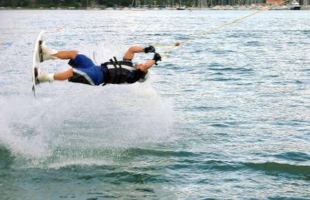 exhilarating: Surfing exhibition Stock Photo