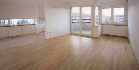 Empty flat ready to move in