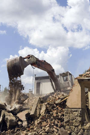 Demolishing building photo
