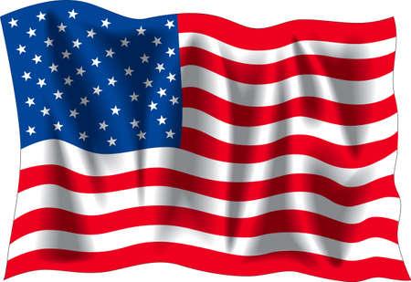 USA wavy flag isolated on white background Stock Photo - 1164354