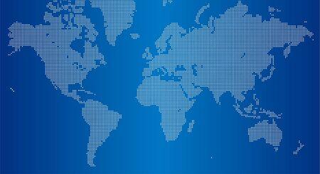 Carte du monde carré points  Vecteurs