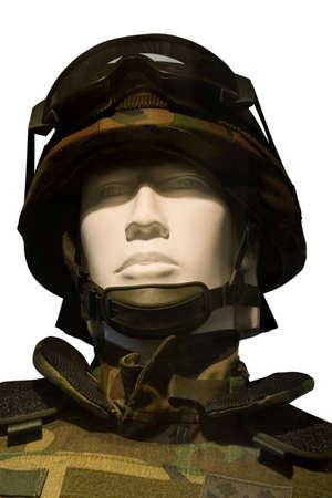 togs: Modern soldier with helmet