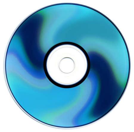 gigabytes: Blue ray disc isolated on white background