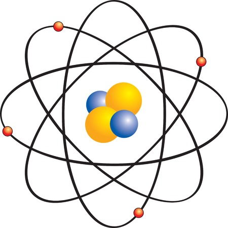 Atom with electron orbits Stock Vector - 2481145