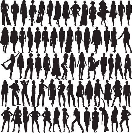 Beaucoup de modèles féminins glamour