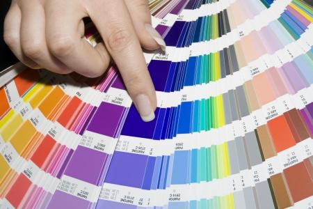 Prépresse couleur échelle  Banque d'images