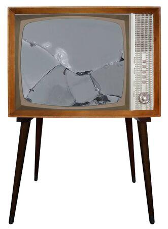 Broken screen of Old Television Standard-Bild