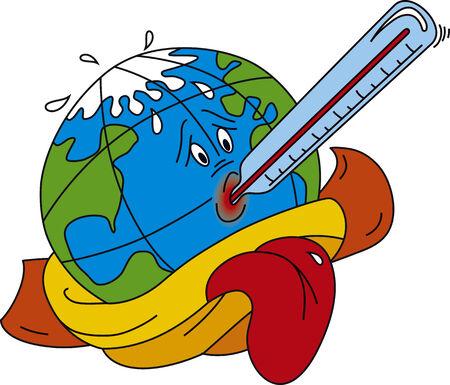 Vector illustratie van Broeikaseffect