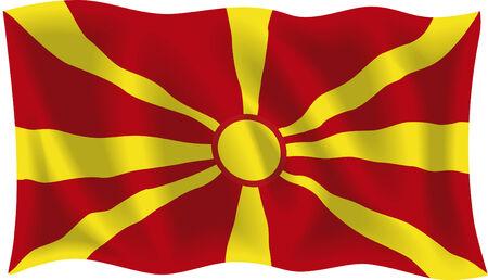 Vector illustration der mazedonischen Flagge
