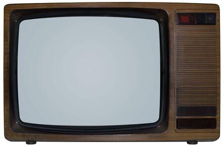 내부와 외부에 고립 된 오래된 TV