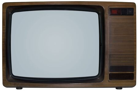 Old TV isolated inside and outside
