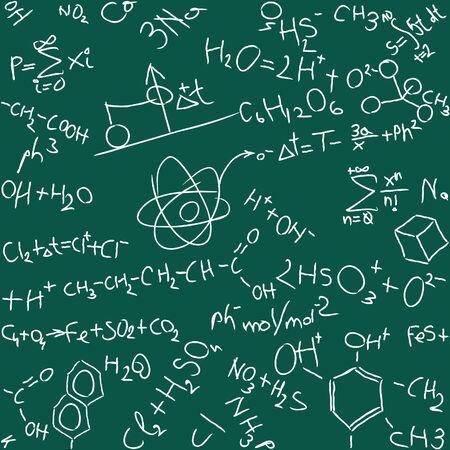illustration of seamless chemistry background Illustration