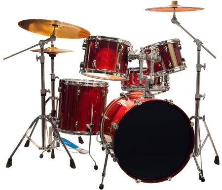 Set van rood-drums Stockfoto