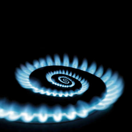 Conceptual vicious circle of energy crisis gas burner spiral loop photo