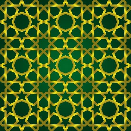 Vector illustration of complex islamic seamless pattern
