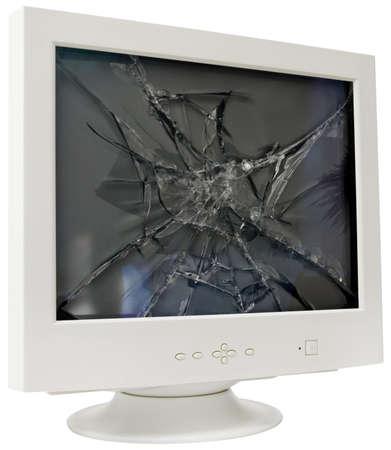 Gebrochen Computer-monitor Standard-Bild
