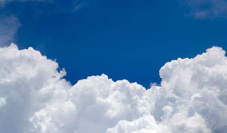 cumulus: Cluodscape Sky background over the blue sky Stock Photo