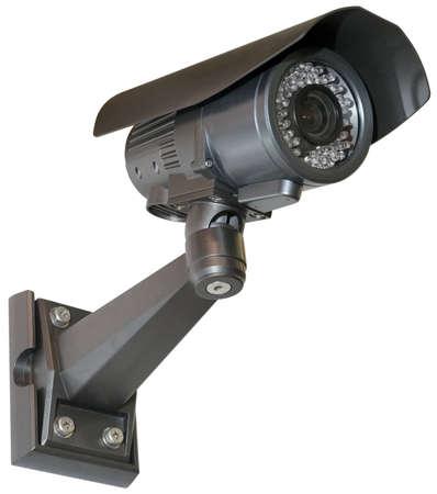 Black Security camera Stock Photo