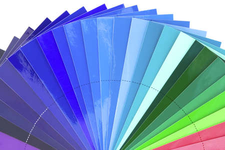 Green to blue color chart scale isolated on white background Stock Photo - 9753448