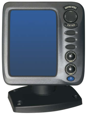 Fishfinder isolated inside and outside