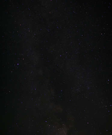 Time lapse of night sky with stars and Milky way Standard-Bild