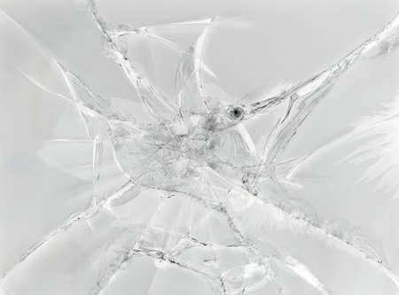 ひびの入ったガラスの灰色の背景