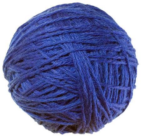 gomitoli di lana: Palla scotta lana isolato su sfondo bianco