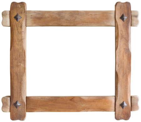 古い木製の写真フレーム素材